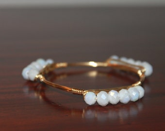 Faceted Bead Layering Bangle