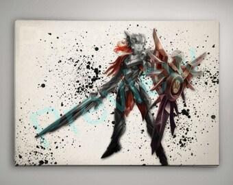 Iron Solari Leona League of Legends,League of Legends Poster, League of Legends Watercolor, League of Legends Wall Decor