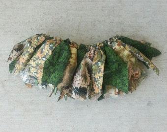 Camo Style Fabric Scrap Tutu Skirt - camouflage - photo shoot outfit - girl hunter - backwoods - toddler skirt