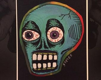 Blue Skull Print!