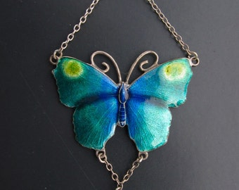 English Arts & Crafts butterfly necklace, c 1890