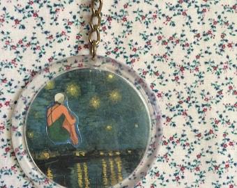Van Gogh Collage Keychain