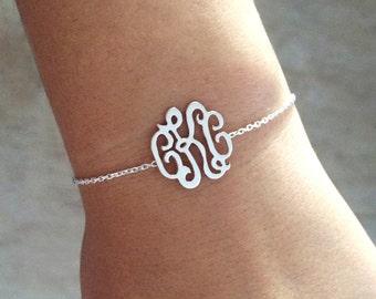 Monogram bracelet , monogram pendent, custom monogram bracelet , initial bracelet, personalized bracelet , personalized pendent, jewels