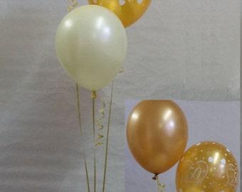 50th Golden Wedding Anniversary Balloon Decoration Display Kit Celebration Party