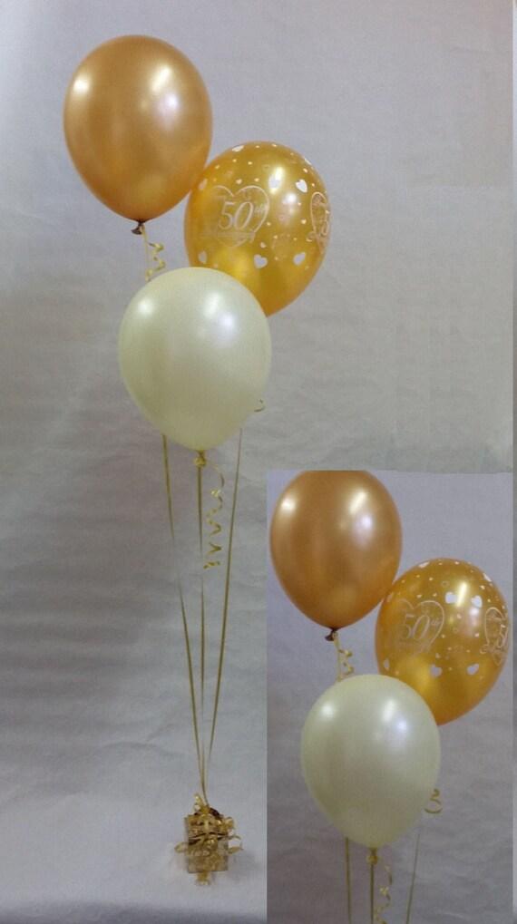 50th golden wedding anniversary balloon decoration display kit for Balloon decoration kit