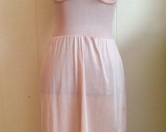 Vintage Peach Lace Slip Negligee Size S