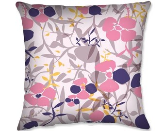 Pastel Flower Throw Pillow