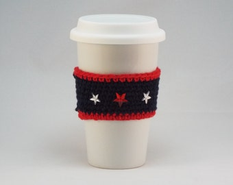 Stars & Stripes Crocheted Coffee Cup Cozy