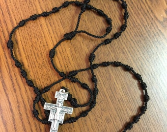 Twine Rosary with metal Crucifix