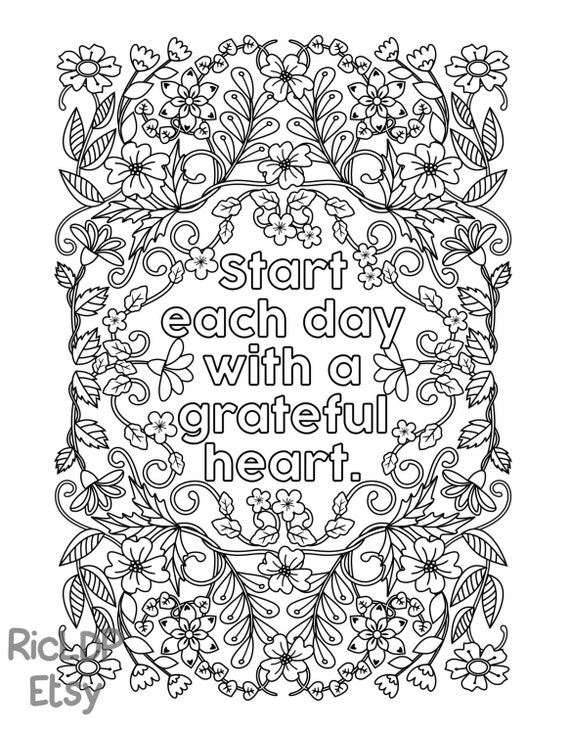 Printable Start Each Day With A Grateful Heart By