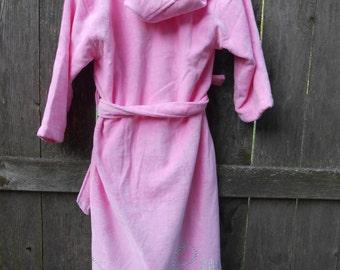 Girls Flower Girl Velour Hooded robe (ages 3-11)