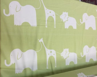 100% cotton double weight w animals Fabric by the yard