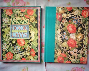 Vintage 1989 Victoria Book of Days HB Book with Protective Slip Box