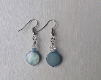 Delicate Earrings, Blue Earrings, Simple Earrings, Minimalist Earrings