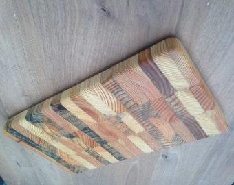 on edge cutting board