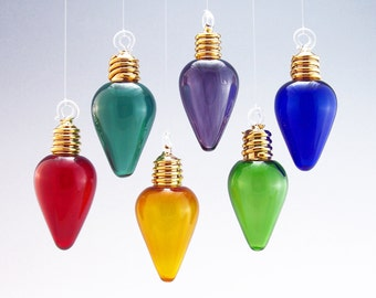 22K Gold Gilded Light Bulb Ornament