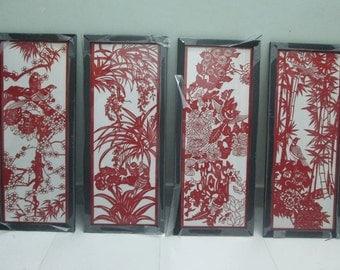 kirigami, handmade, paper gift,  painting paper