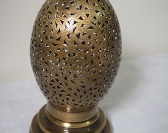 Intricate Moroccan brass lamp