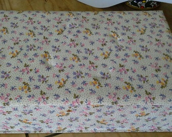 French vintage fabric covered workbox