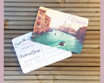 Postcard Destination Wedding Save the Date Venice Fully Customisable A6