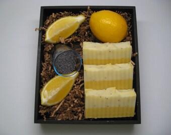 Handcrafted Lemon Poppyseed  Soap