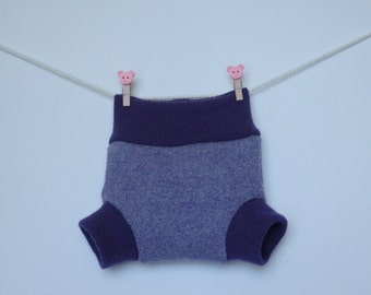 Upcycled wool soakers / diapers / shorties for newborns,
