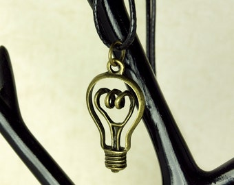 Necklace pendant lamp light steampunk gear