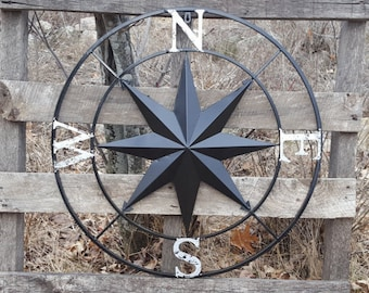 Nautical Compass Wall Art Nautical Decor Nautical Wall Art Nautical Deco Metal Compass Decor Metal Wall Compass Compass Rose