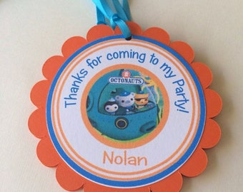 Octonauts Favor Tags