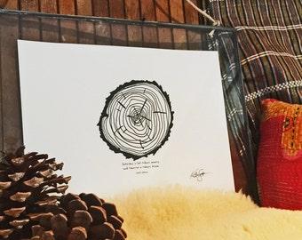Today's Dream -Hand Drawn, Pen and Ink, Art Print, illustration, Wall art, Kids Room Art