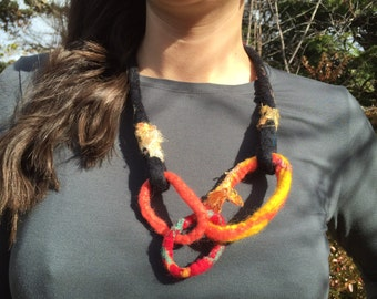 Felted Wool Necklace