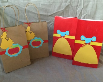 Snow White inspired  goodie bags ,favor bags set ,of 12, snow white favor bags,snow white goodie bags