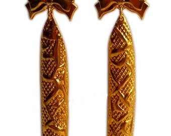 Copper Hand Crafted Gold Coated Earring Jewellery Jewelry