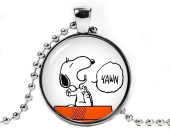 Snoopy Yawn Necklace Pendant Snoopy Charlie Brown Fandom Jewelry Cosplay Fangirl Fanboy