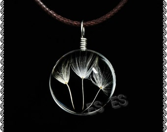 ES Dandelion Flower Necklace  gift for her