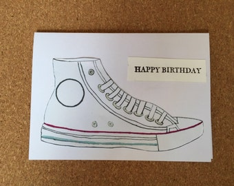 Birthday card with converse style design