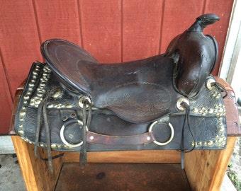 Antique Western Saddle Decor