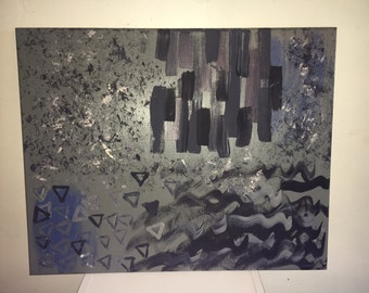 Abstract acrylic canvas painting