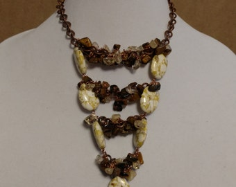 Tygers Eye Tiered Necklace