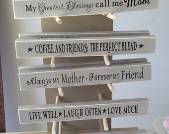 """12"""" Wooden Signs- Mineral"""
