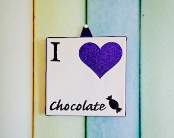I Love Chocolate canvas