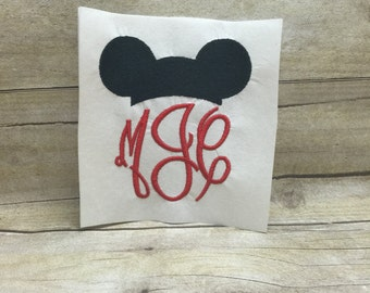 Mickey Mouse Hat Embroidery Design, Mickey Hat Embroidery Design