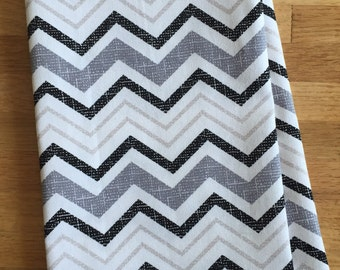 Modern Lines Tea Towel - Black and White