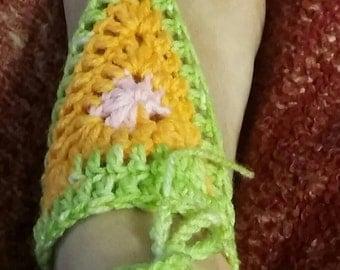 Barefoot Sandals, Crochet Sandals, Summer Wear, Beach Wear, Multi Color Sandals,