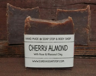 Cherry Almond Handmade Hot Process Soap - One Bar