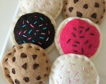 Handmade Felt Cookies Set of 6