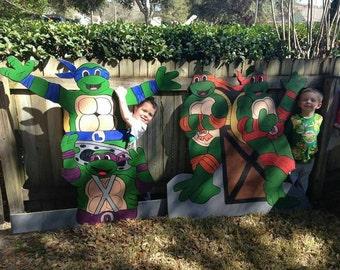 Ninja turtle cut outs