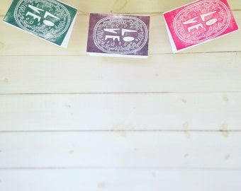 gift cards pack (x3) hand crafted block printed