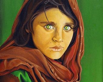 Sharbat Gula • Steve McCurry • oil painting • handmade