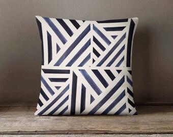 Pillow Cover - Navy Strip  - Throw Pillow - Decorative Pillow - Accent Pillow - Country Decor - Home Decor - Cushion Cover - Wedding Gift